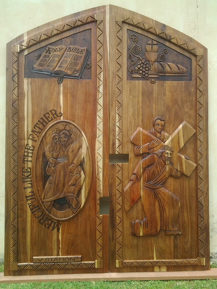 Africarve, Hand Carved Doors, Doors & Signs, Hand Carved, Solid Doors, Exotic Doors, South Coast Doors, Woodern Garage Doors, Wooden Signs, Hand Carved Designs, Copper, KIAAT, Grains, Maranti, Oak, RoseWood, Timber, Coastal Doors, Fit Any Size, Custom Doors, Internal Doors, Pivot Doors, Ethnic Doors, Special Projects, Church Furnishing, Religious Doors, Christian Doors, Hindu Doors, Muslim Doors, WildLife Doors, Family Crests, Family Signs, Trophies, Gates, Swing Doors, Headboards, Murals, Cupboard Doors, Solid Custom Tables, Statues, Single Panel Grooved Single & Double, Single Panel Grooved Single & Double Door, Single Panel Sleeper Type Single & Double, Single Panel Plain Single & Double, Two Panel tongue and groove - Single & Double, Two Panel Type Single & Double, 4 Panel Kiaat Door with Centre Piece Carving, 4 Panel Stable Door Design with Glass top panels & Centre Carving, 4 Panel Stable Door Design with Glass top panels & Centre Carving, 4 Panel Stable Door Design with Glass top panels & Centre Carving, 813mm Two Panel with Center Carving, 1,200 Pivot Door Design 50A with cut out for glass. Installed in frame with lock, 1,200 Design 22A. Two Panel, 1,200 Design 7 Abafazi with Copper, 1,200 design 3D Elephant, 3D Elephant - Side View, design 3D 18 Hlala Panzi, kayalangalrg, pumla, hlalaphansi, ilanga, 4panel, galleon, municipality, african-doubledoor, cross-design, floral-design, gheko_sleeper, halfmoon, mixed-wood, shield, silveroak, stabledoor, double door sleeper frame and architrave closed, Custom Wooden Door, Double Doors Design 2 Panel with Carved Wooden Handles Front and Back, Double Doors Design 2 Panel with Carved Wooden Handles Front and Back, Double Doors Design 2 Panel with Carved Wooden Handles Front and Back, Double Doors Design 2 Panel with Carved Wooden Handles Front and Back, church pews, Bishops chairs, Church-christening stand, Carved religious panels, Carved religious doors, PULLPIT, Carved murals, Ganesh-Kiaat, Double Doors-Ganesh, Double Door Lotus Elephant, Ganesha wall mural, Mosque Double Doors in African Rosewood with glass inserts and Top Panel, Carved Mosque Double Doors in Oak with Arched Top Panel, Carved Mosque Double Doors in Oak with Arched Top Panel, Carved religious doors, Dolphin , Elephant & Calf, Big Five, Leopard, Stable Door Kudu, Stable Door Zebra, Perched Eagle, Owl, Perched Fish Eagles, 3D Carved Gecko, 3D Carved Hippo, Rhino, Bush Baby's Paradise, Sailfish Design Doors Kiaat, Cheetah, Dolphin, Elephant Headoor, Big 5 Pivot door 3D, Bester, De Kock, De La Ray, De Jager, Wooden Sign, Kitchen Swing Doors, Saloon Swing Doors, 3m Gate Panels Carved Kiaat, Wooden Gate, Wall Mural, Trophies,, Metre Carved Table Top, Basket Weave, Rope Design, Floral Design, Custom table