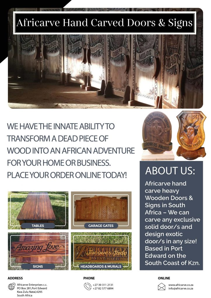 Africarve March 23rd 2020 - Africarve Hand Crafted Doors and Church Furnishings
