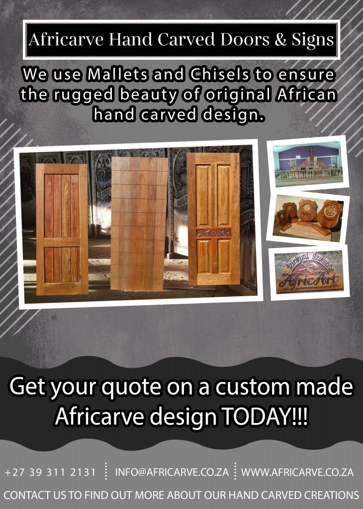 Africarve 1st June 2020 - Africarve Hand Crafted Doors and Church Furnishings