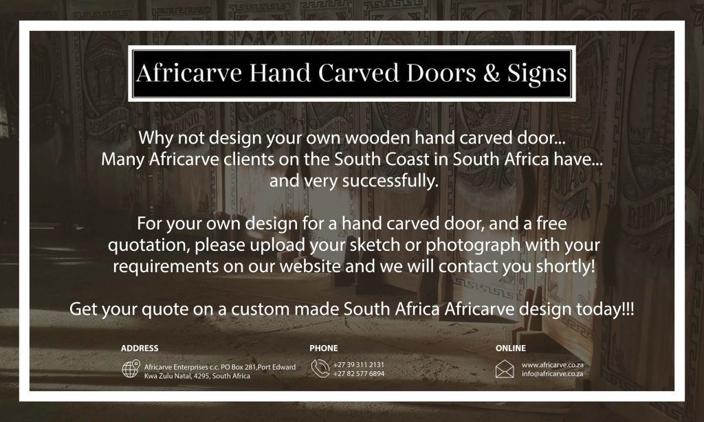 Africarve 4Th May 2020 - Africarve Hand Crafted Doors and Church Furnishings