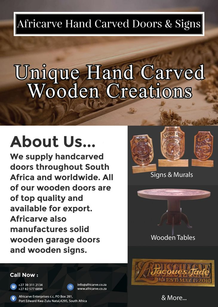 Africarve May 11th 2020 - Africarve Hand Crafted Doors and Church Furnishings