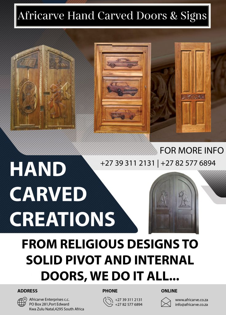 Africarve July 6th 2020 - Africarve Hand Crafted Doors and Church Furnishings