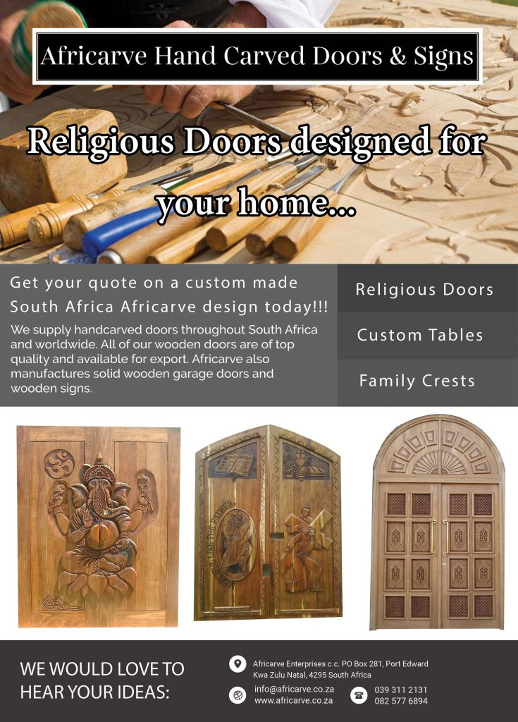 Africarve June 15th 2020 - Africarve Hand Crafted Doors and Church Furnishings