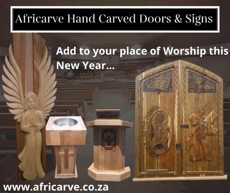 Africarve 3rd January 2021 - Africarve Hand Crafted Doors and Church Furnishings